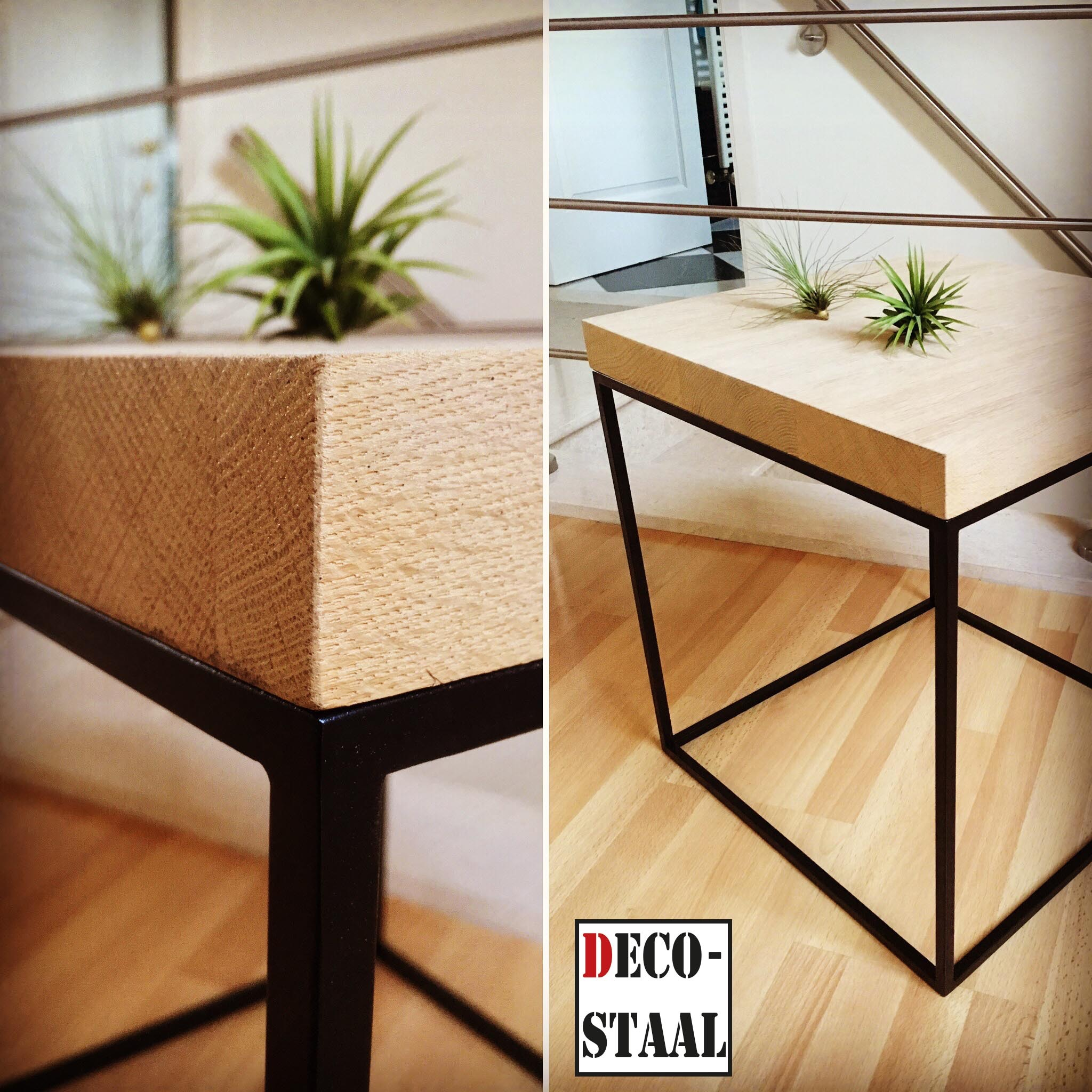 Deco staal handmade steel design - Hout deco trap ...
